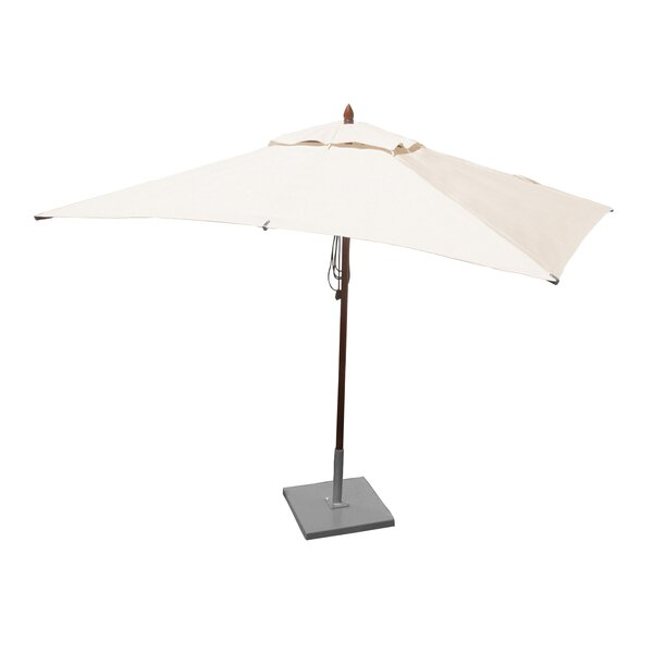 Sharon 6.5' X 10' Rectangular Market Umbrella by Darby Home Co