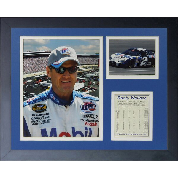 Rusty Wallace Framed Memorabilia by Legends Never Die