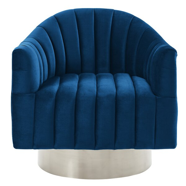 Lachapelle Swivel Barrel Chair by Everly Quinn Everly Quinn