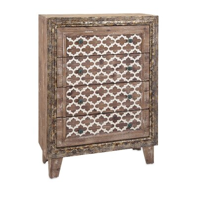 Ashdown Wood 4 Drawer Accent Chest Bungalow Rose