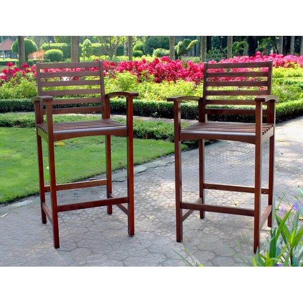 Pine Hills 29 Patio Bar Stool (Set of 2) by Beachcrest Home