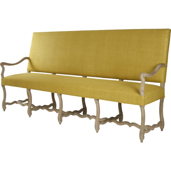 Veronike Silk Fabric Bench by Zentique