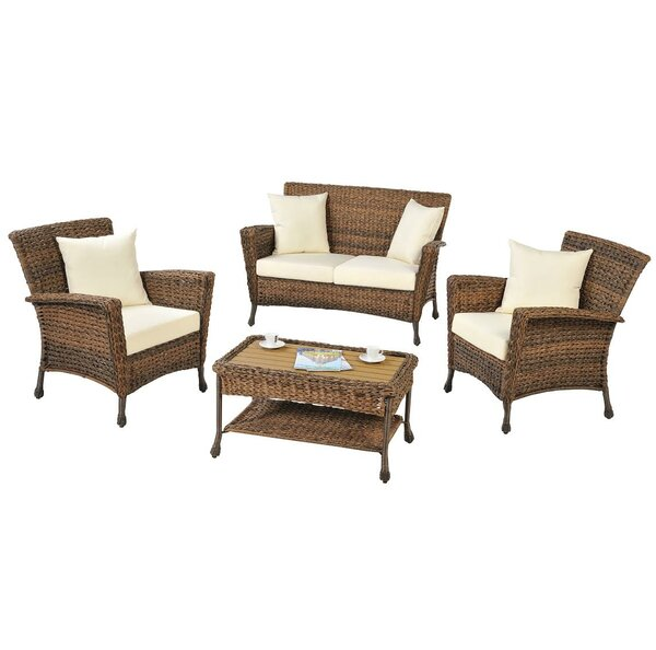 Saturn 4 Piece Sofa Set with Cushions by W Unlimited