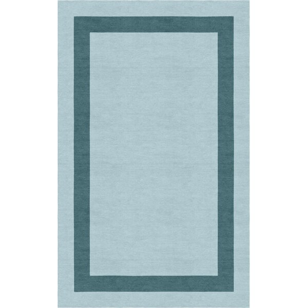 Westbroek Border Hand-Tufted Wool Light Blue/Gray Area Rug by Red Barrel Studio