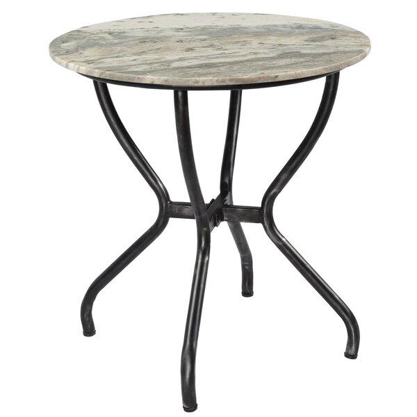 Alezzi Marble Top Pedestal End Table By Brayden Studio