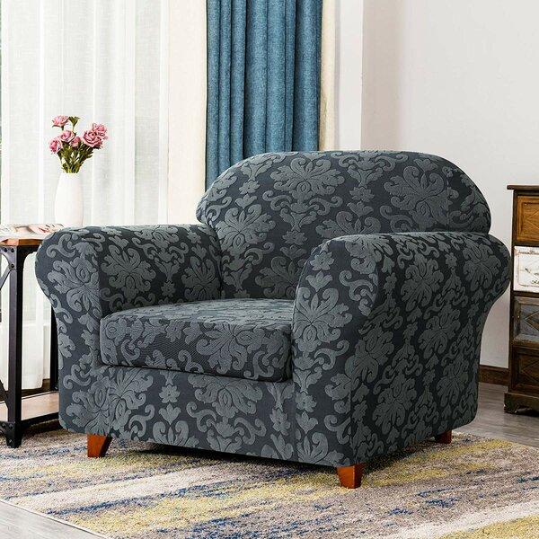 Review Elegant Durable Box Cushion Armchair Slipcover