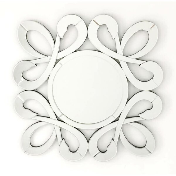 Fiori Stylish Frame Round Decorative Wall Mirror by Fab Glass and Mirror