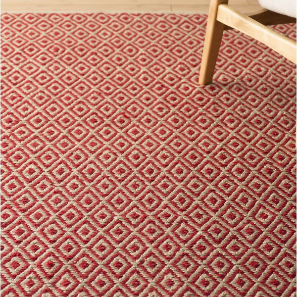 Kenzo Hand-Woven Pink/Beige Area Rug by Langley Street