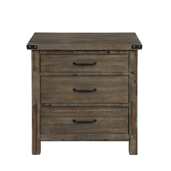 Korte 3 Drawers Nightstand by Millwood Pines