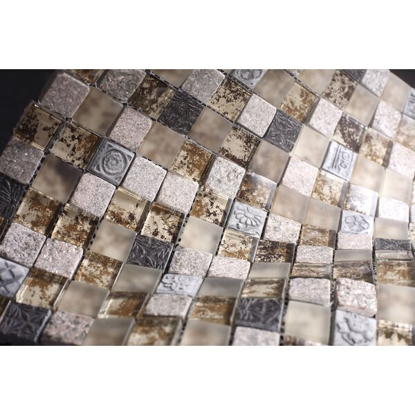 Rocky Glass Mosaic Tile in Brown by Multile