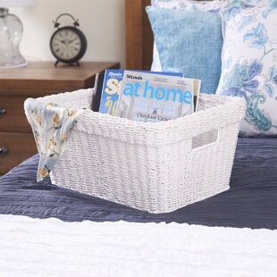 Compare & Buy Paper Rope Wicker Basket By Highland Dunes