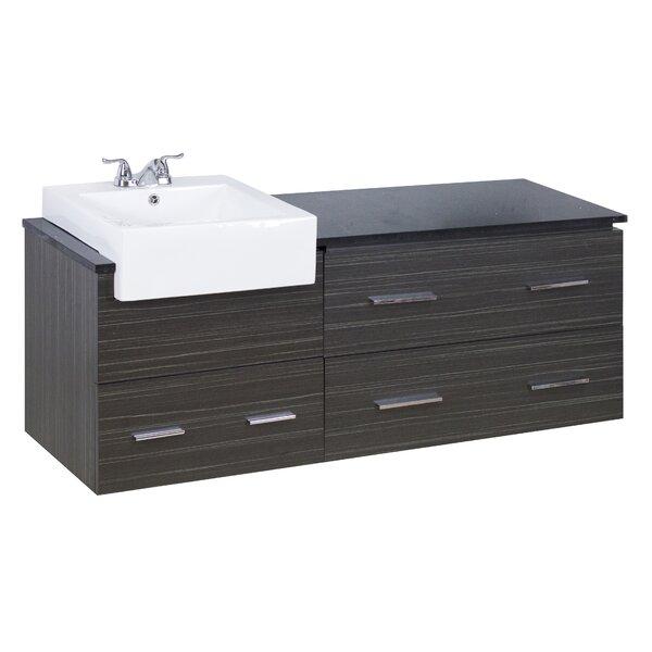 60 Single Modern Wall Mount Bathroom Vanity Set by American Imaginations