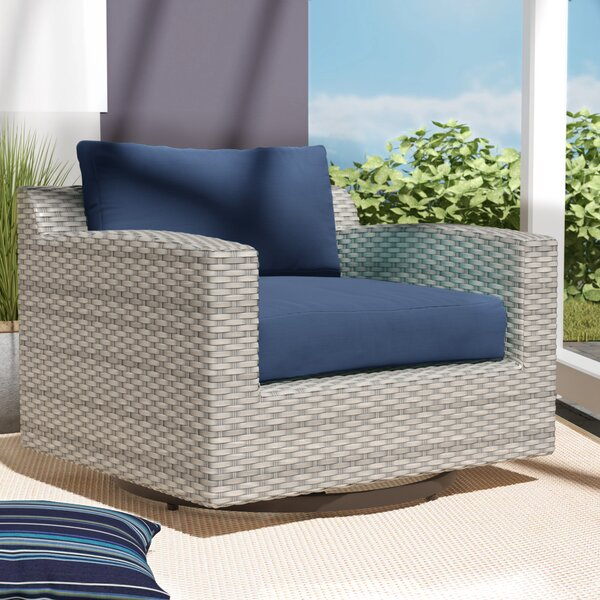 Merlyn Swivel Patio Chair with Cushions by Sol 72 Outdoor