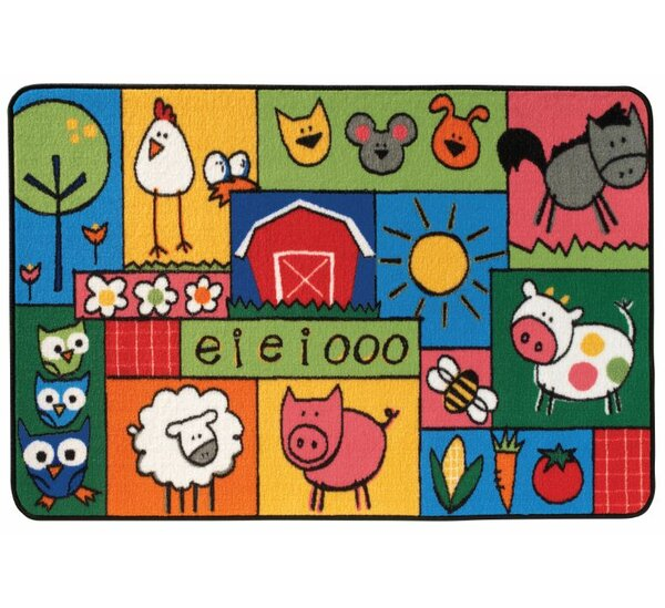 Old MacDonald Farm Kids Area Rug by Kids Value Rugs