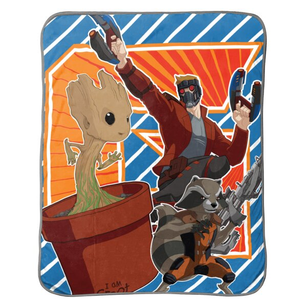 Marvel Guardians of The Galaxy 2 Outlaws Plush Throw by Warner Brothers