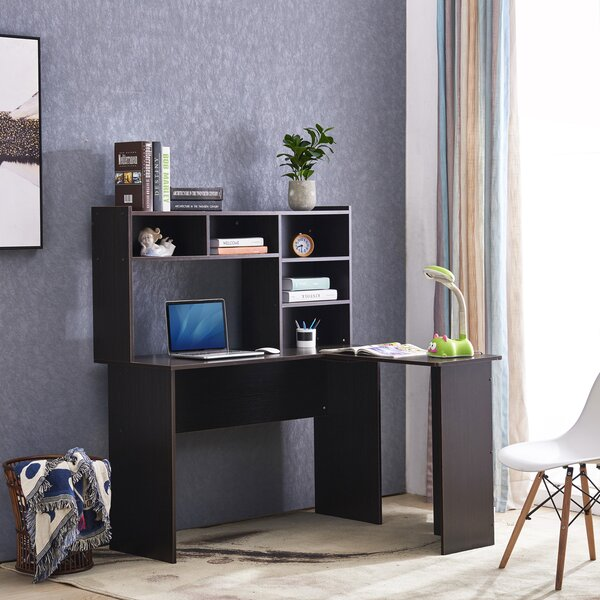 Oklee L Shaped Executive Desk with Hutch by Latitude Run