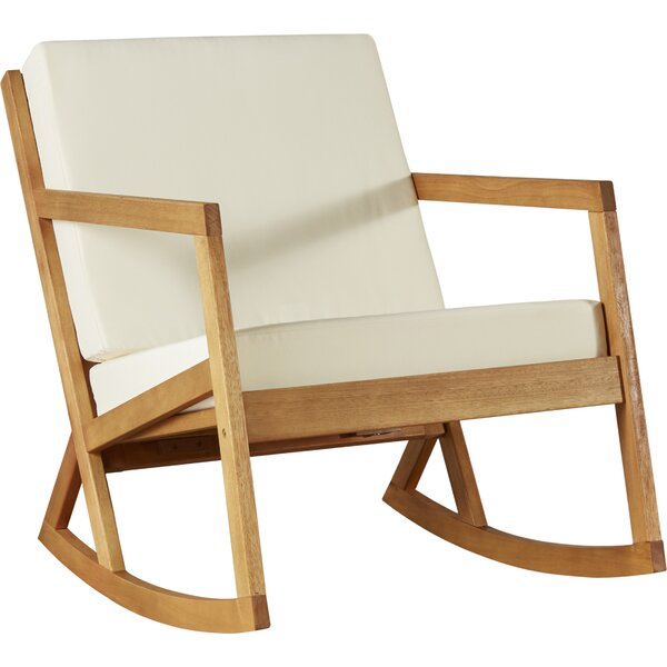 Camdenton Rocking Chair With Cushions By Greyleigh by Greyleigh Best #1