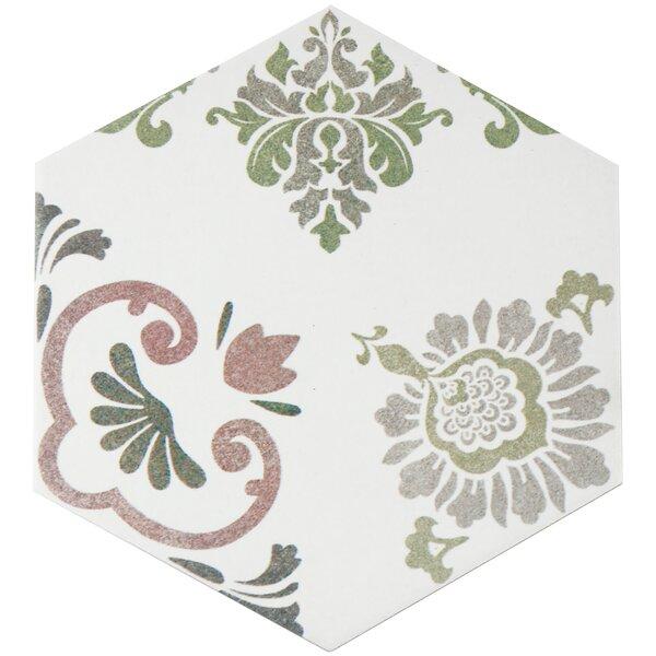 Fantazio 9.88 x 8.63 Porcelain Floor Tile in Pink by EliteTile