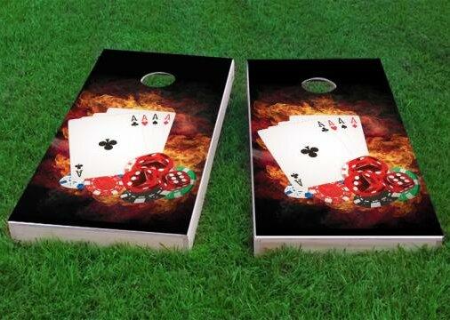 4 Card Stud Poker Cornhole Game (Set of 2) by Custom Cornhole Boards