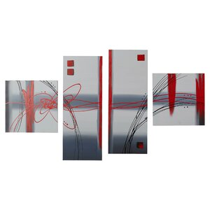 Frosted Glass 4 Piece Painting on Canvas Set by Ivy Bronx