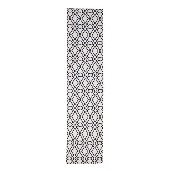 Durie Kilim Reversible Flat Weave Hand-Knotted Ivory Area Rug by House of Hampton
