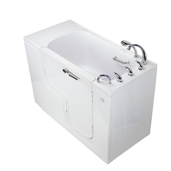 Transfer L Shape Wheelchair Accessible Dual Massage Heated Seat 52 x 30 Walk-in Combination Bathtub by Ella Walk In Baths