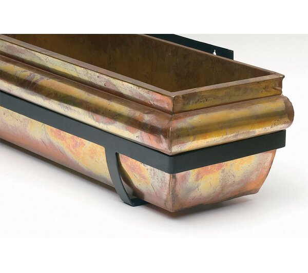 Stainless Steel Window Box Planter by H. Potter