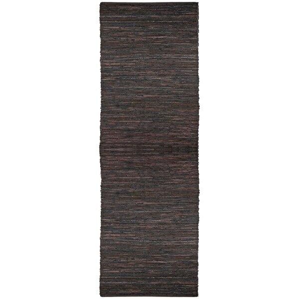 Sandford Leather Chindi Rust Area Rug by Latitude Run