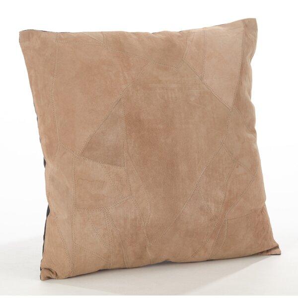 The Corium Leather Throw Pillow by Saro