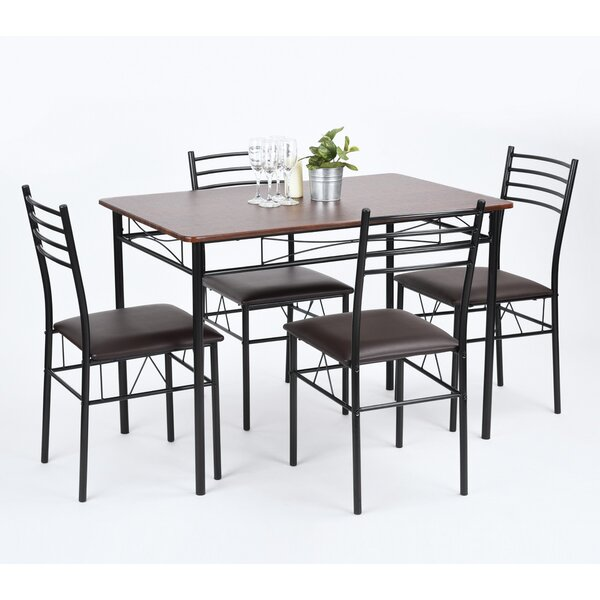 Copenhagan 5 Piece Breakfast Nook Dining Set