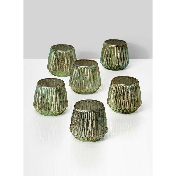 Tea Light 6 Piece Glass Votive (Set of 6) by Bungalow Rose