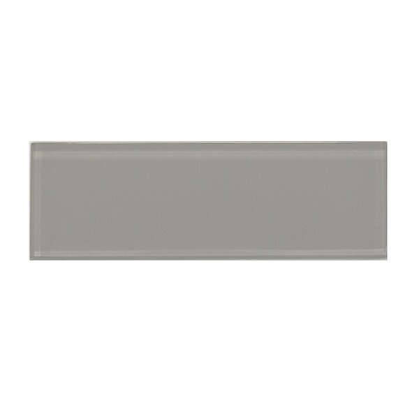 Premium Series 3'' x 9'' Glass Subway Tile in Dark Gray by WS Tiles