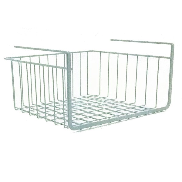 Large Wire Basket With Handle Bar Steel Color 10.75 x 12.5 x 6.75 Inch Organizer