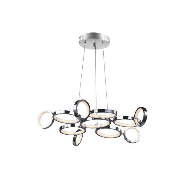 Colette 1 - Light Unique / Statement Geometric LED Chandelier By CWI Lighting