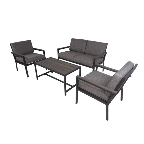 Altonette 4 Piece Complete Patio Set with Cushions by Latitude Run