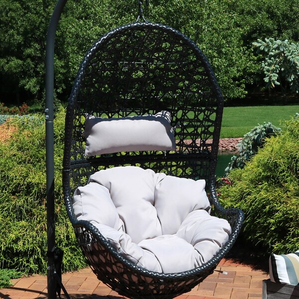 Farris Hanging Egg Chair Hammock by Bayou Breeze