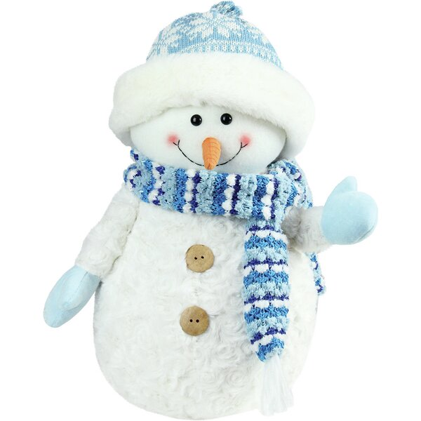 Arctic Snowman Wearing Knit Hat Christmas Decoration by The Holiday Aisle
