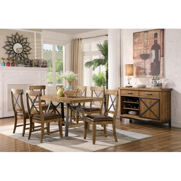 Laguna Reclaimed 7 Piece Solid Wood Dining Set by Trent Austin Design