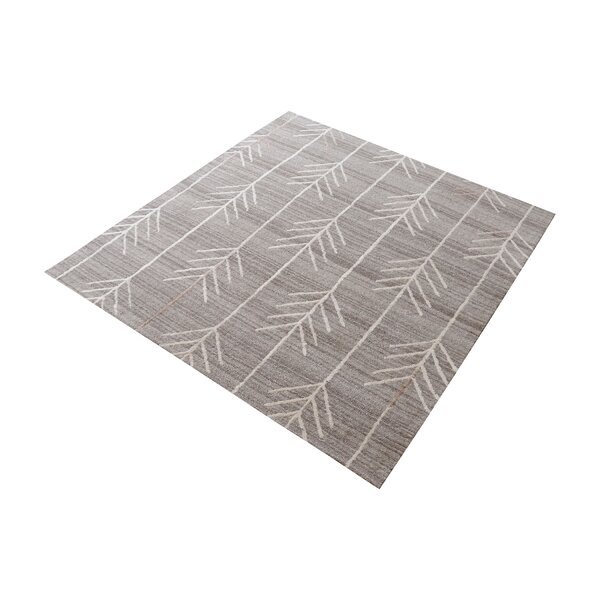 Maya Hand-Tufted Warm Gray Area Rug by Bungalow Rose