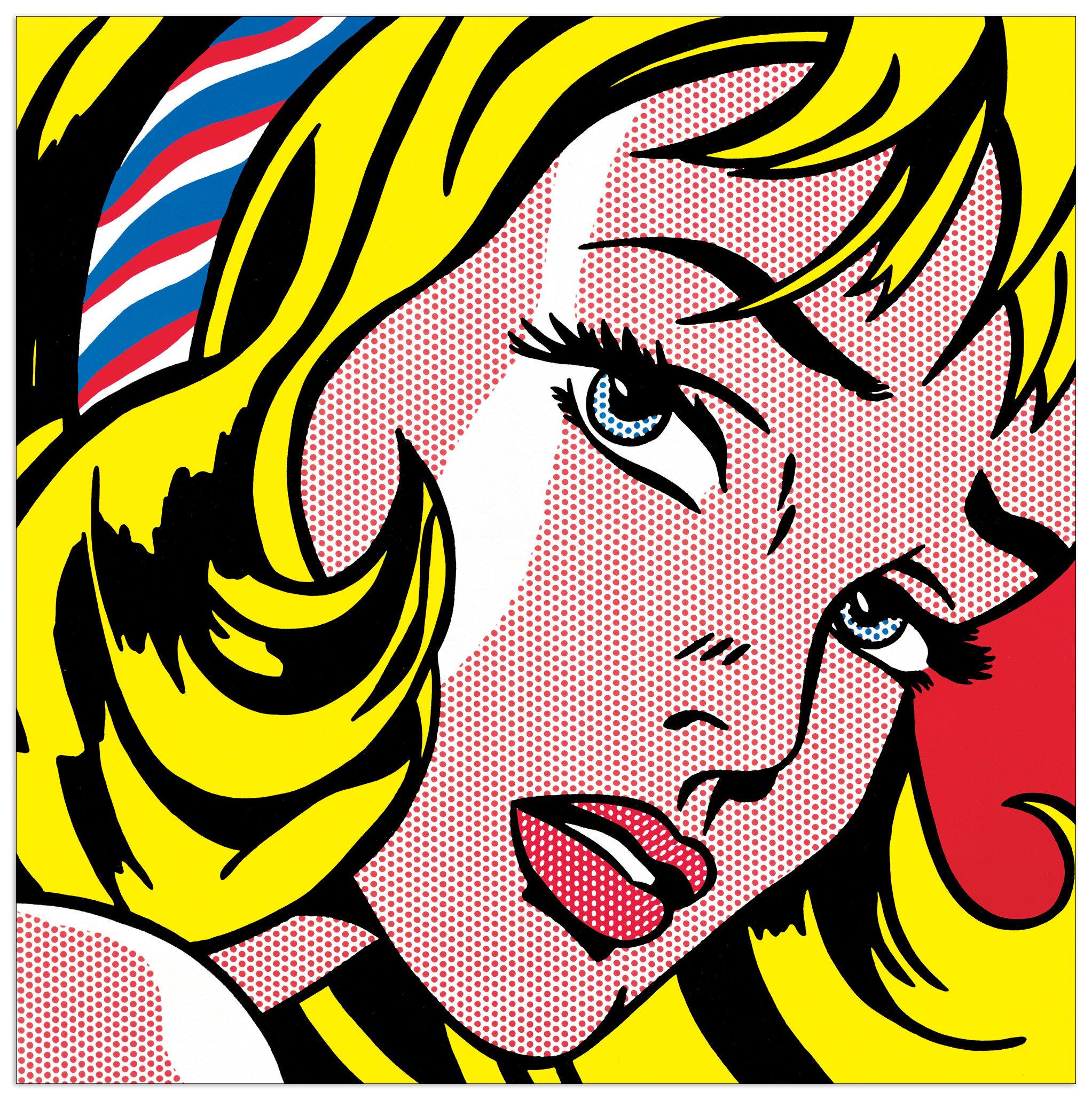 East Urban Home 'Girl with Hair Ribbon, 1965' by Lichtenstein ...