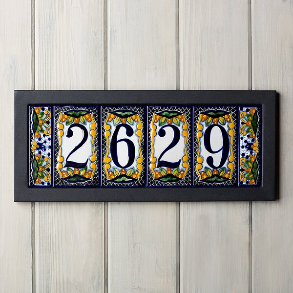 5-Tile Address Plaque Frame by Native Trails, Inc.