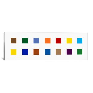 Modern Colorful Squares Graphic Art on Canvas by iCanvas