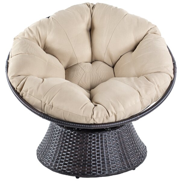 Baddeley Swivel Papasan Chair by Orren Ellis