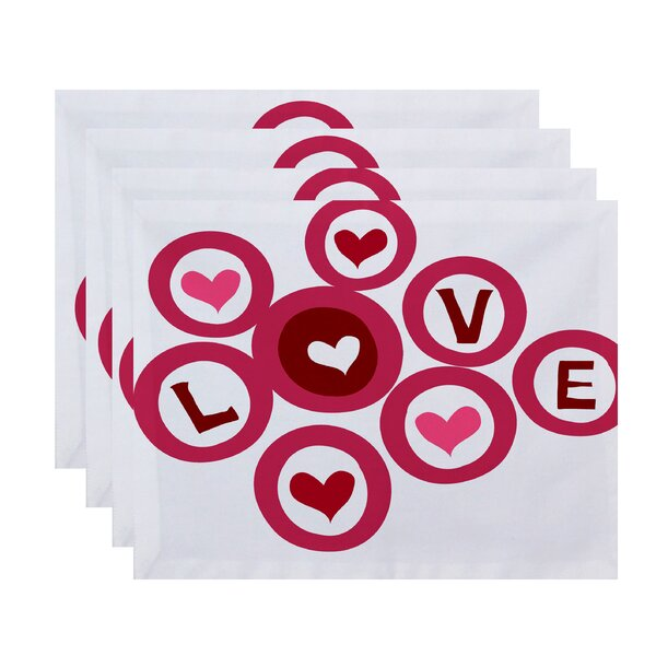 Funky Junky Love in the Round Placemat (Set of 4) by The Holiday Aisle