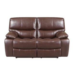 Ledoux Leather Reclining Loveseat by Red Barrel Studio