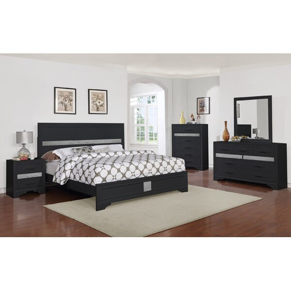 Geist Queen Panel 4 Piece Bedroom Set by Wrought Studio