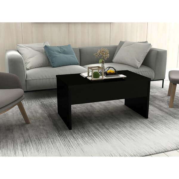 Jacques Smart Lift Top Coffee Table with Tray Top by Union Rustic