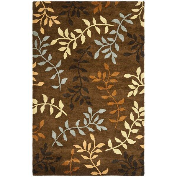 Eldridge Light Dark Brown / Light Multi Contemporary Rug by Winston Porter