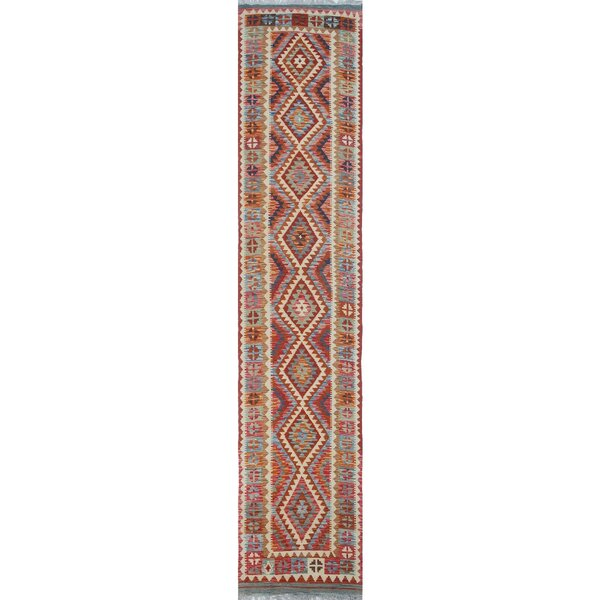 One-of-a-Kind Applewhite Hand-Woven Wool Rust Area Rug by Isabelline