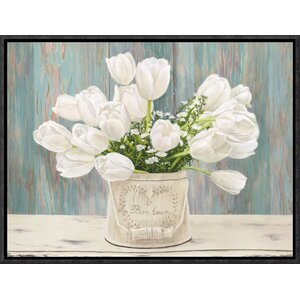 'Country Bouquet' by Dellal Framed Painting Print by Global Gallery